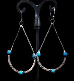 3 Stone Turquoise Teardrops