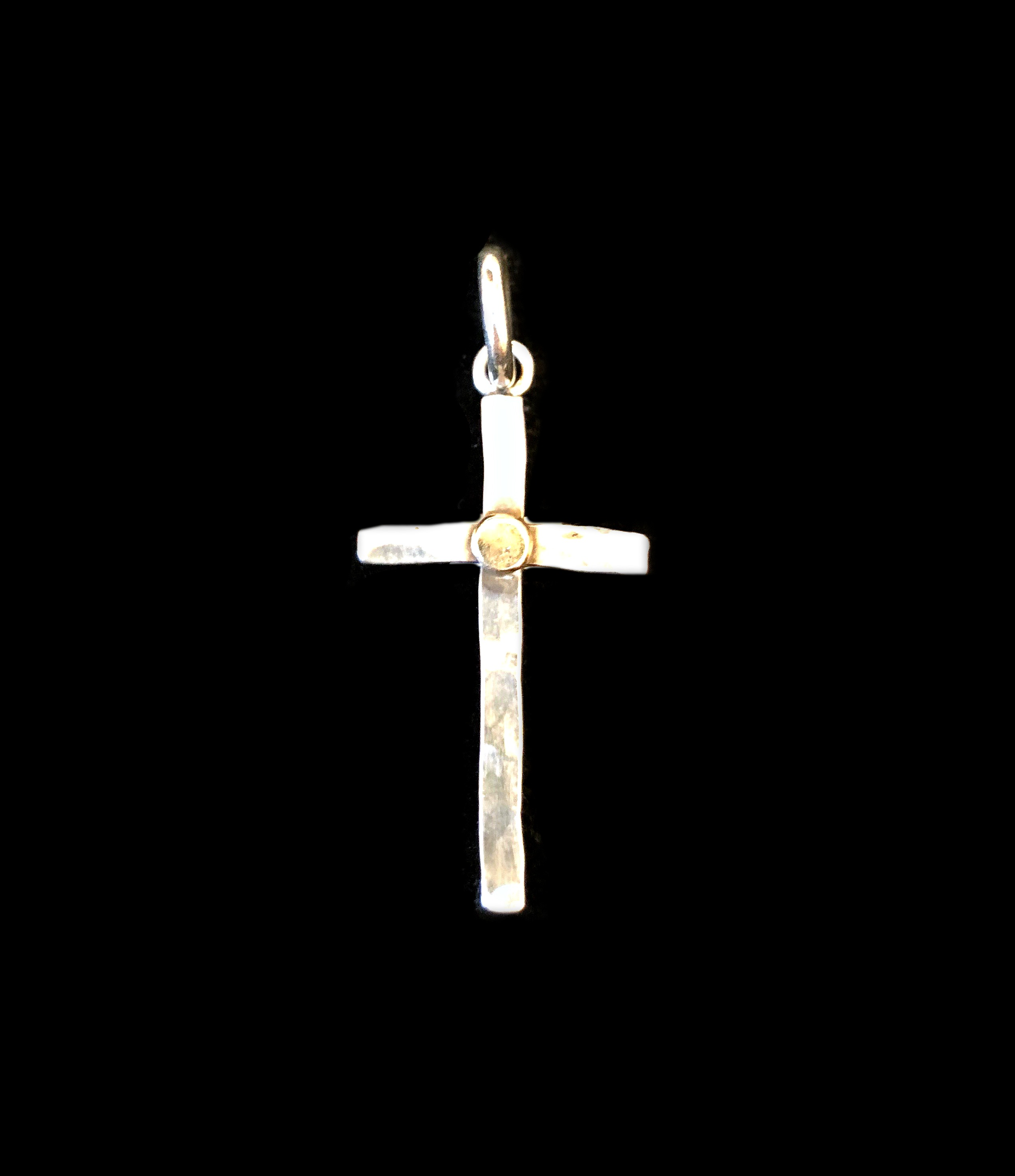 Cross with Gold Dot