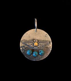 Thunderbird Pendant with Gold Dot