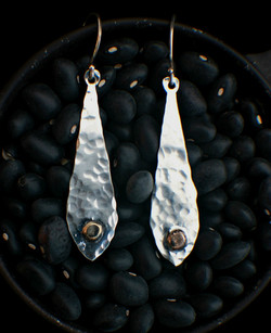 Two Tone Pendant Drop Earrings