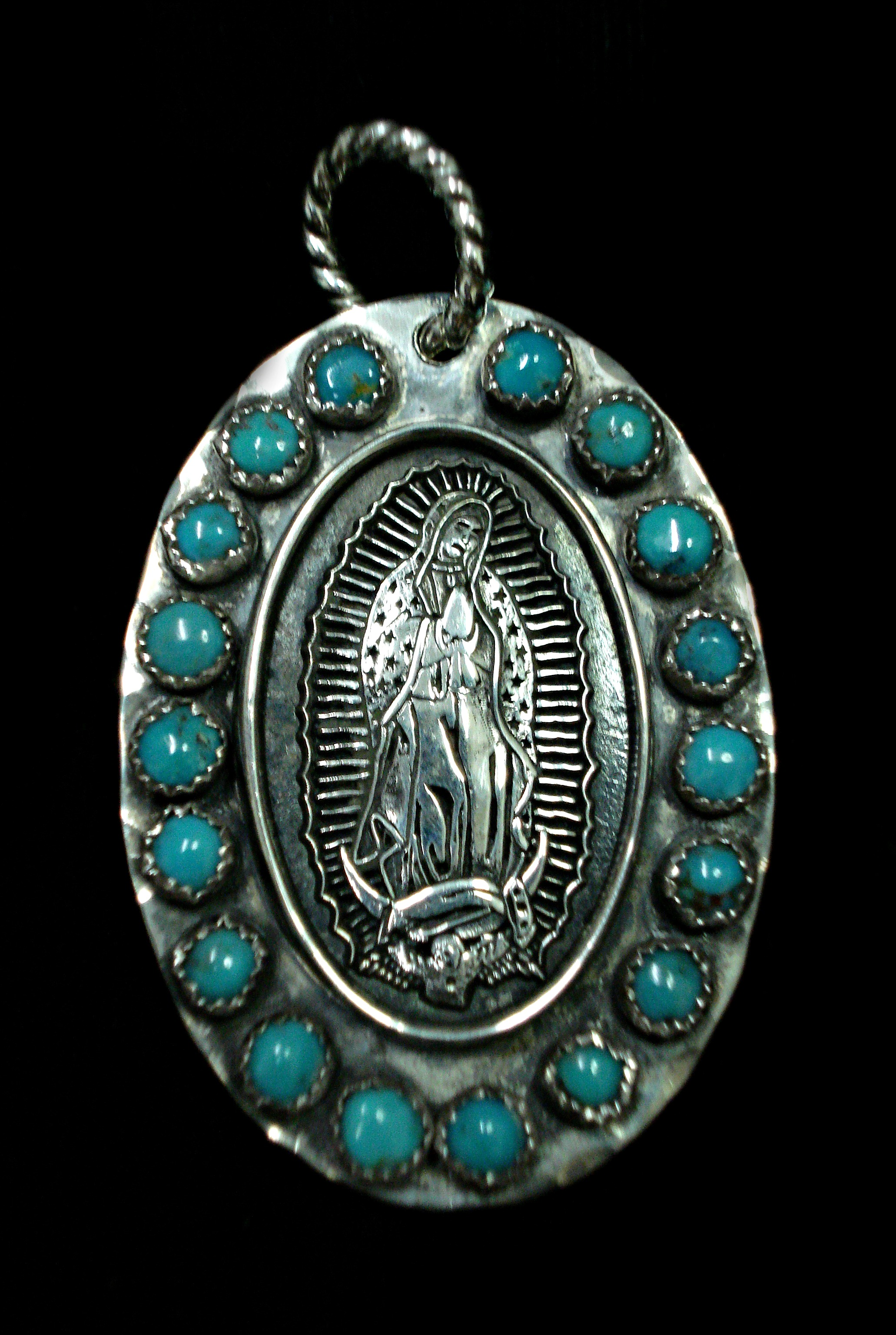Our Lady in Turquoise