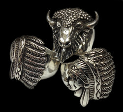 Chief and Buffalo Rings