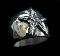 Starfish Cigar Band Ring