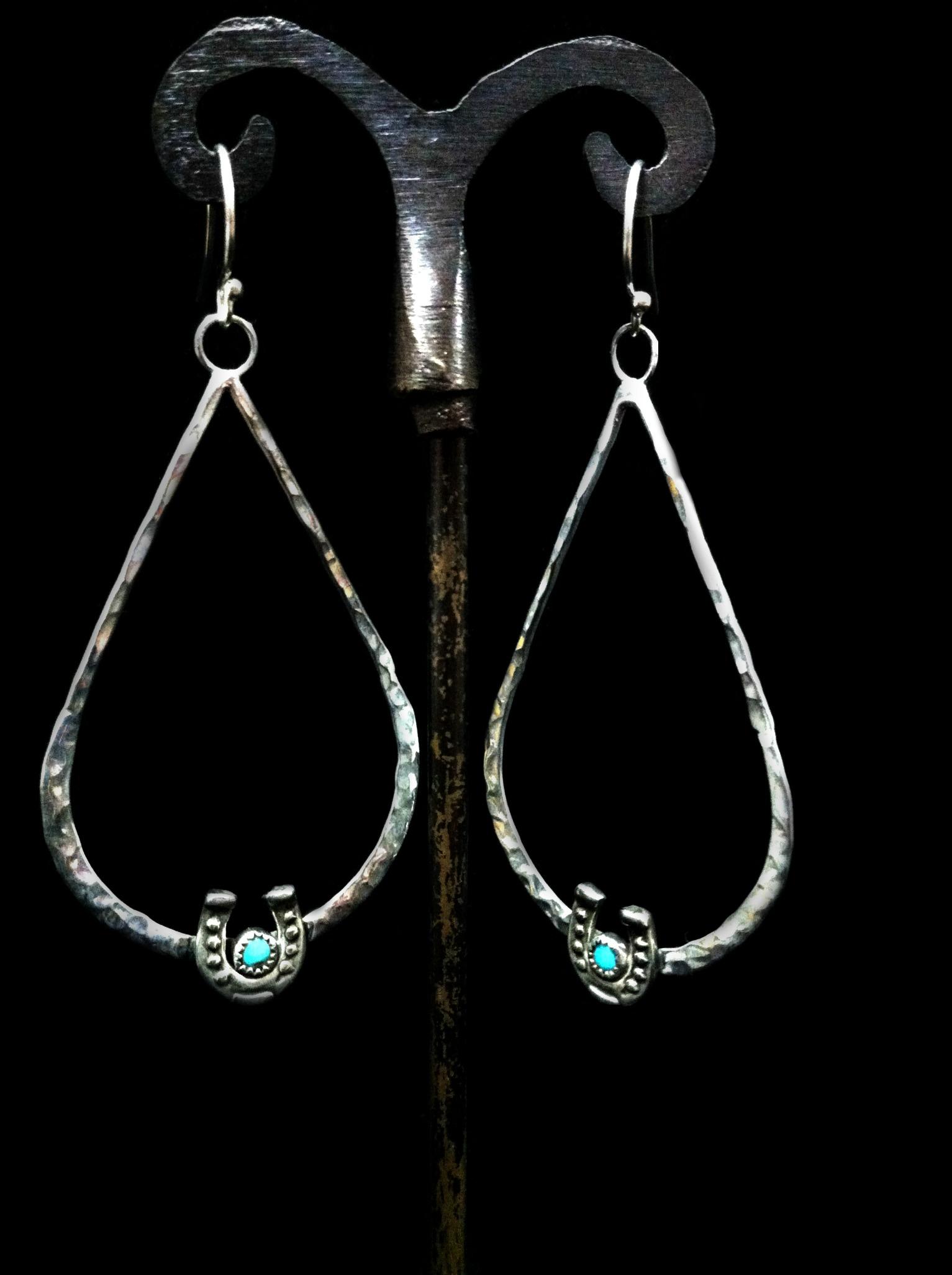 Teardrop Horseshoe Earrings