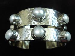 Bold Pearl Cuffs