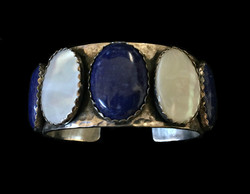 Lapis and Mother of Pearl Cuff