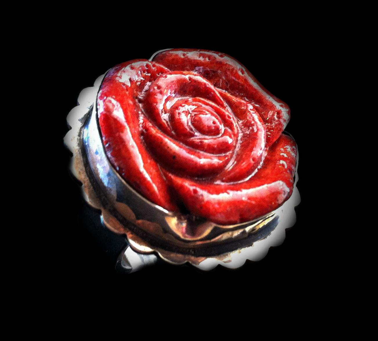 Coral Rose Ring