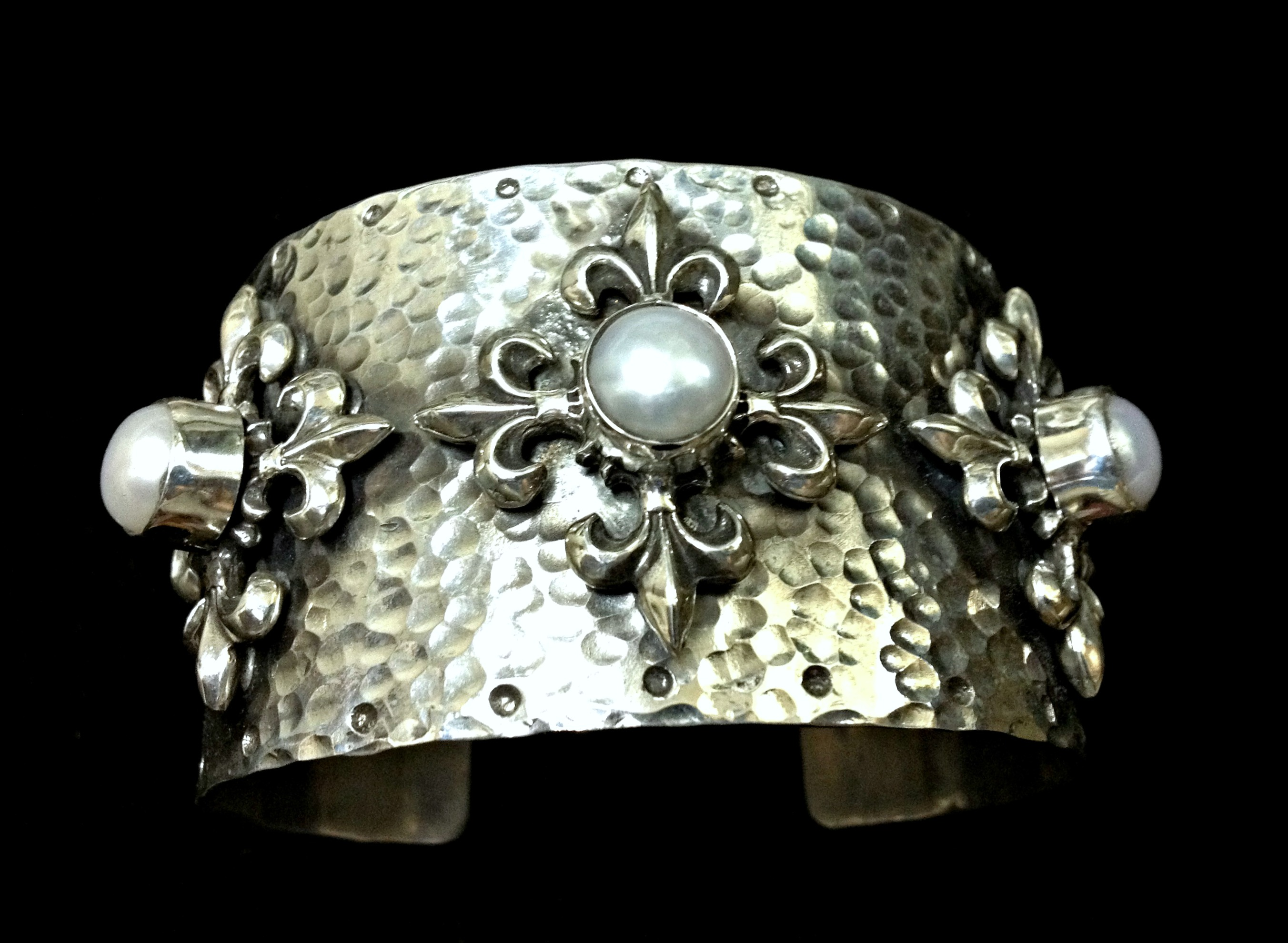 Ornate Pearl Cuff