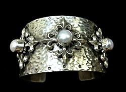 Ornate Pearl Cuff