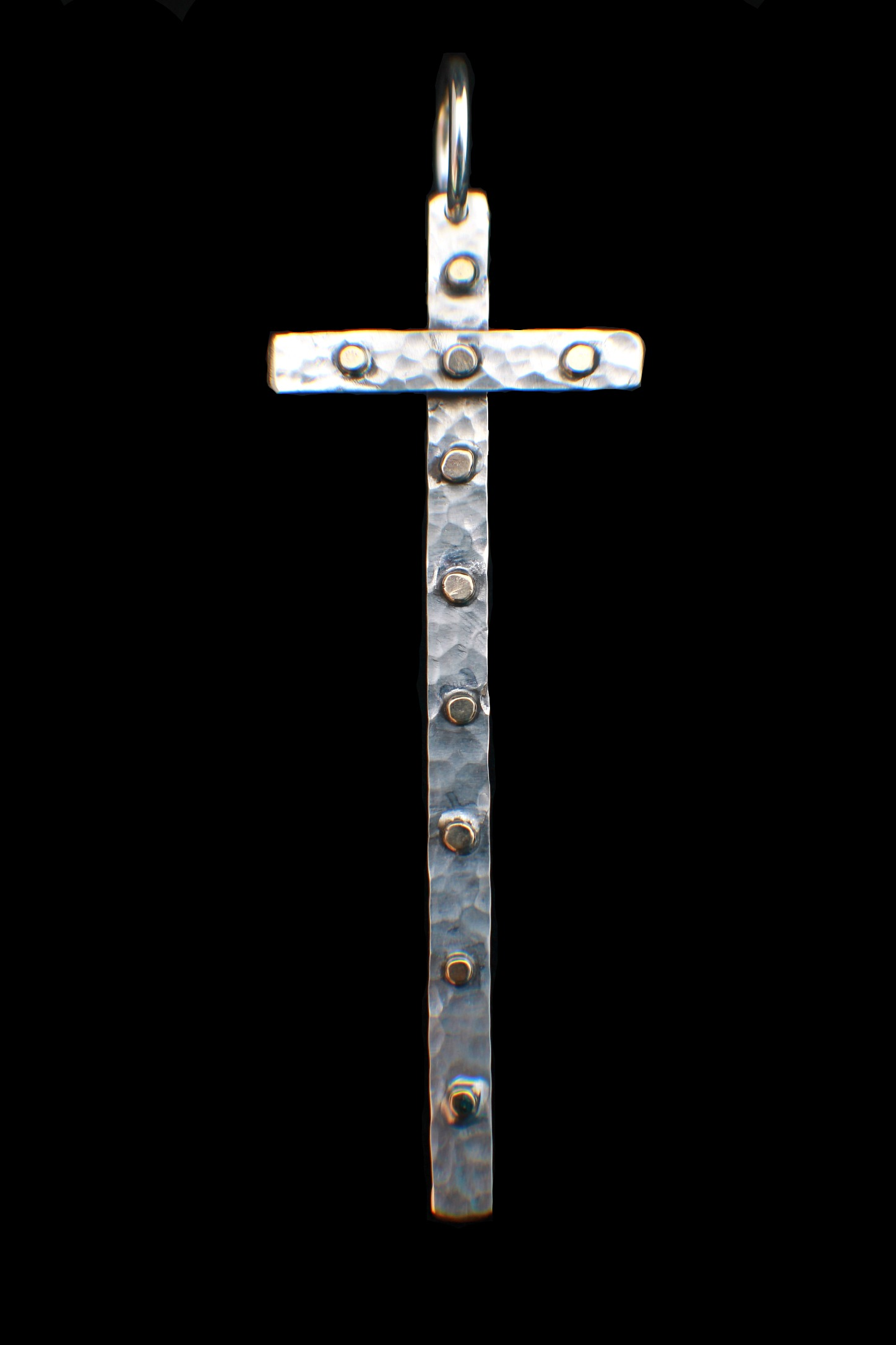Two Tone Studded Cross