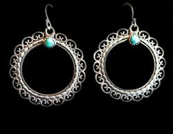 Ornate Hoop Earrings