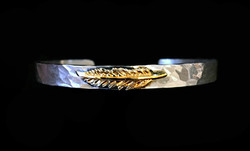 Gold Feather Cuff
