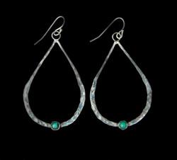 Single Stone Teardrop Earrings