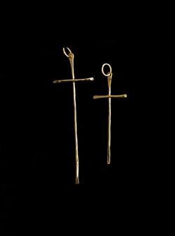 Thin Gold Cross