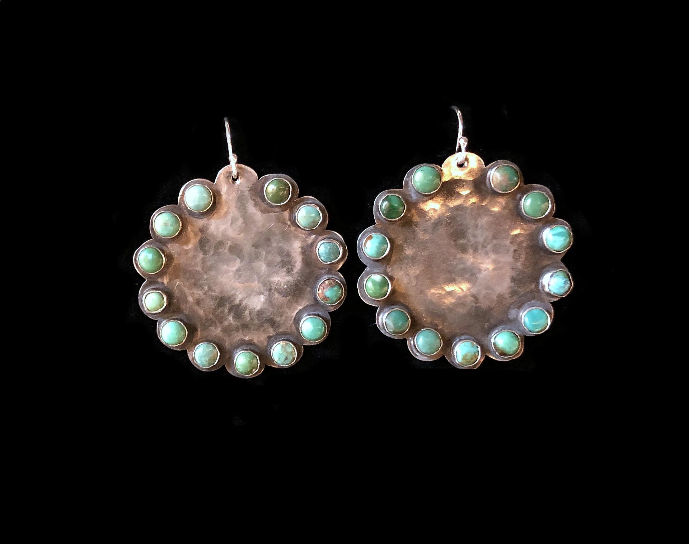 Scalloped Stone Earrings
