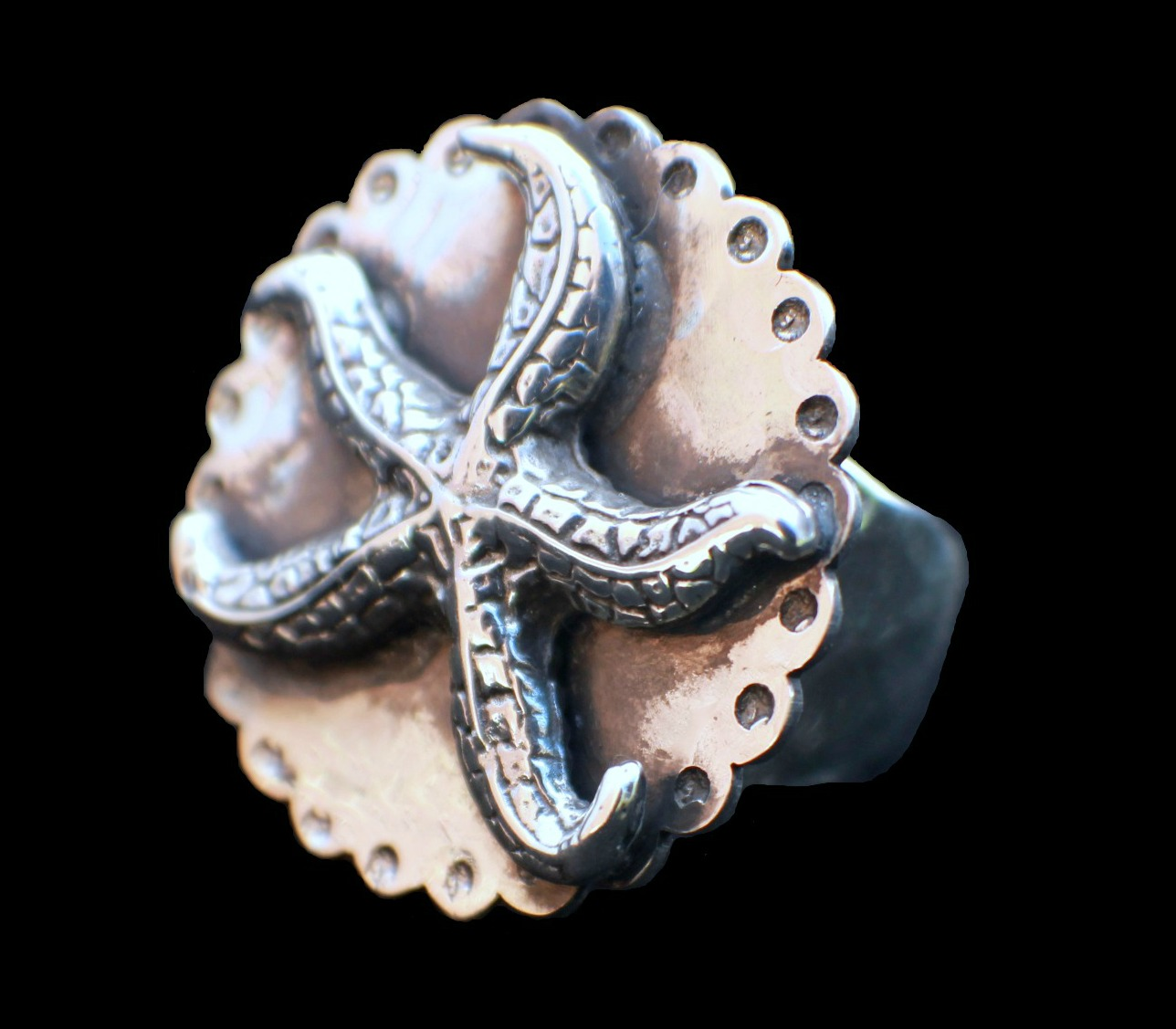 Scalloped Starfish Ring