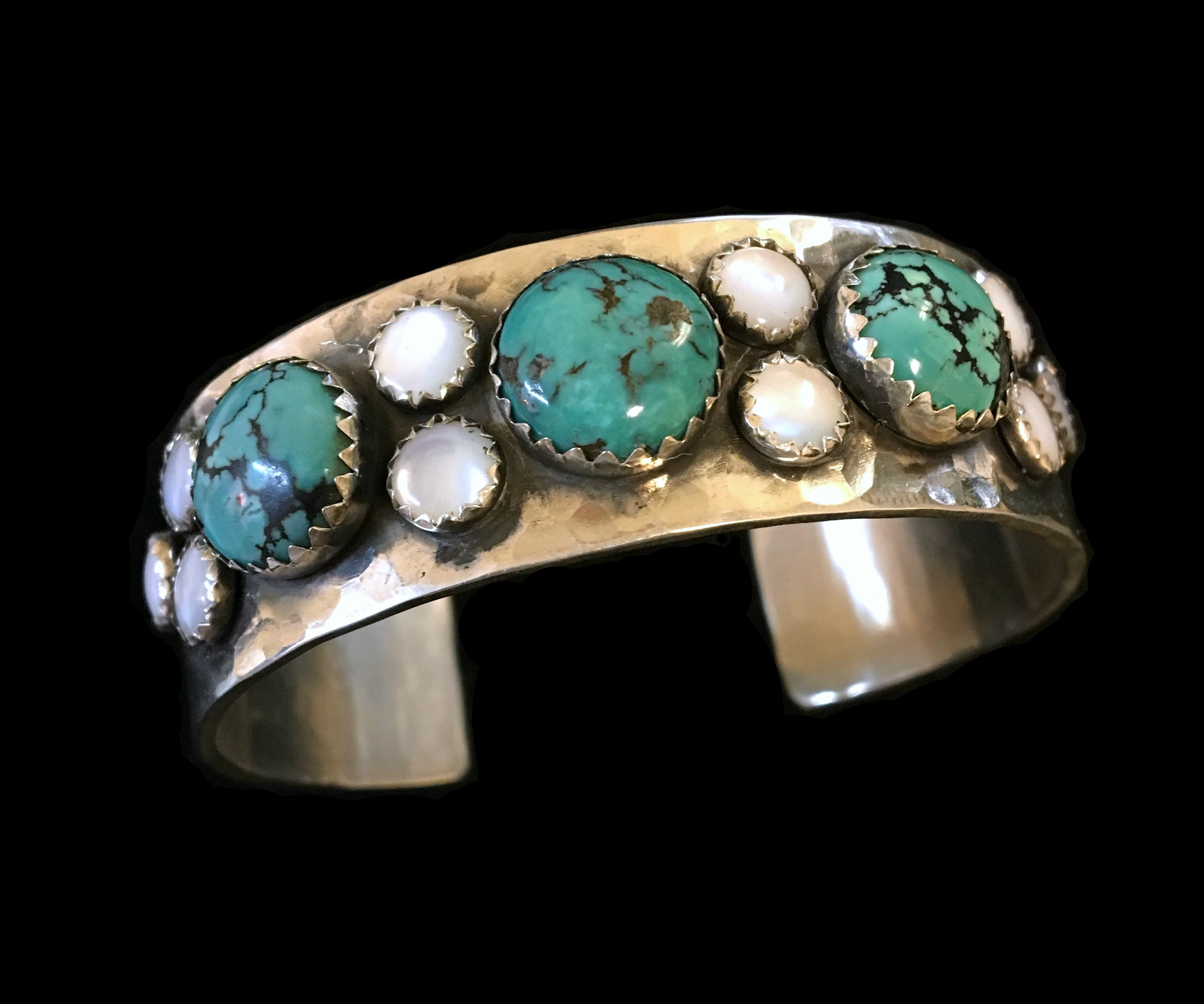 Bubble Turquoise and Mother of Pearl