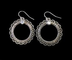 Ornate Hoop Earring