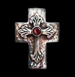 Cross and Garnet Ring