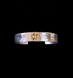 Gold Cross Cuff