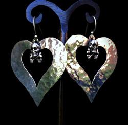 Heart and Crossbone Earrings