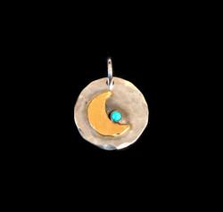 Gold Moon Pendant