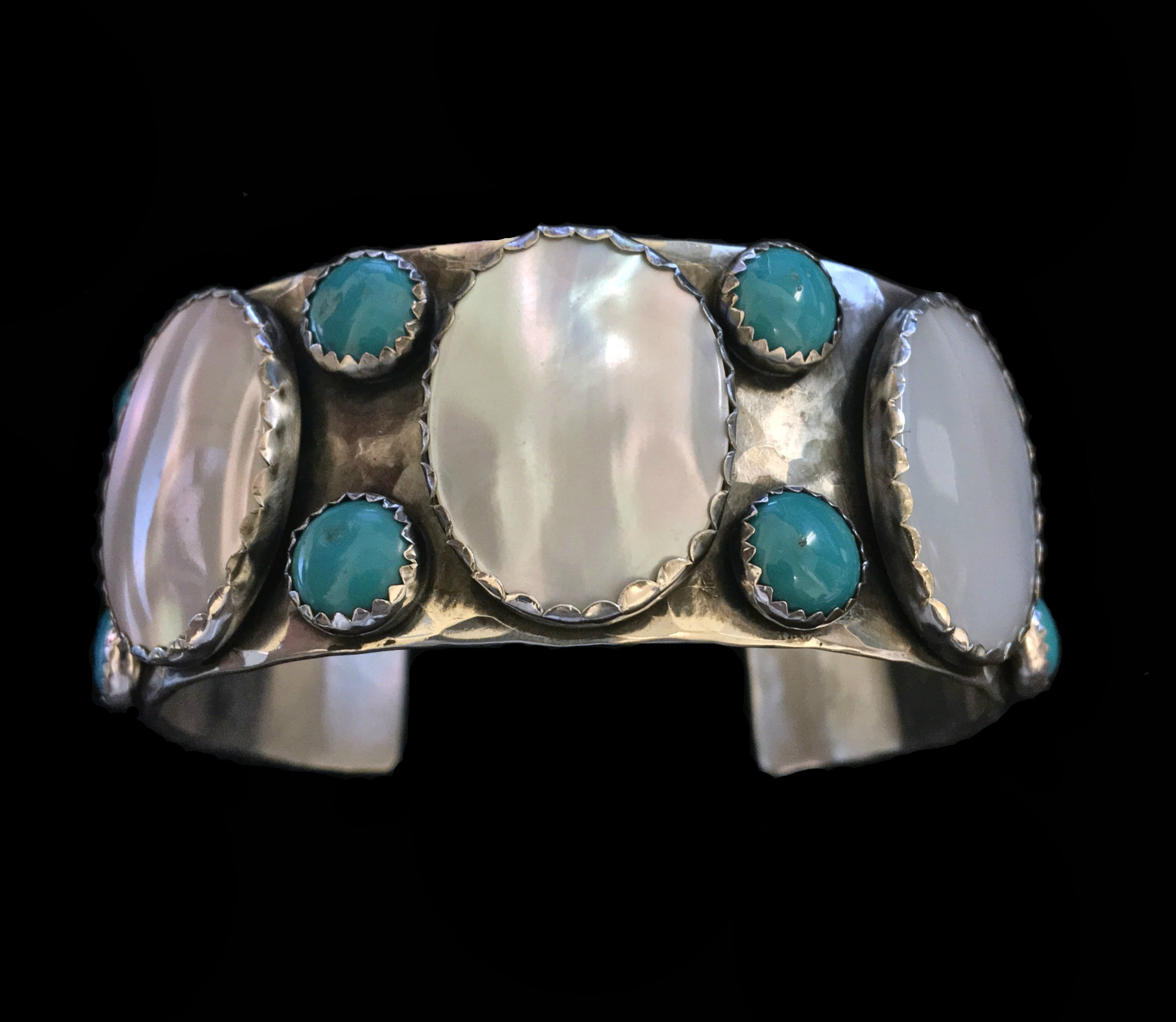 Mother of Pear and Turquoise Cuff