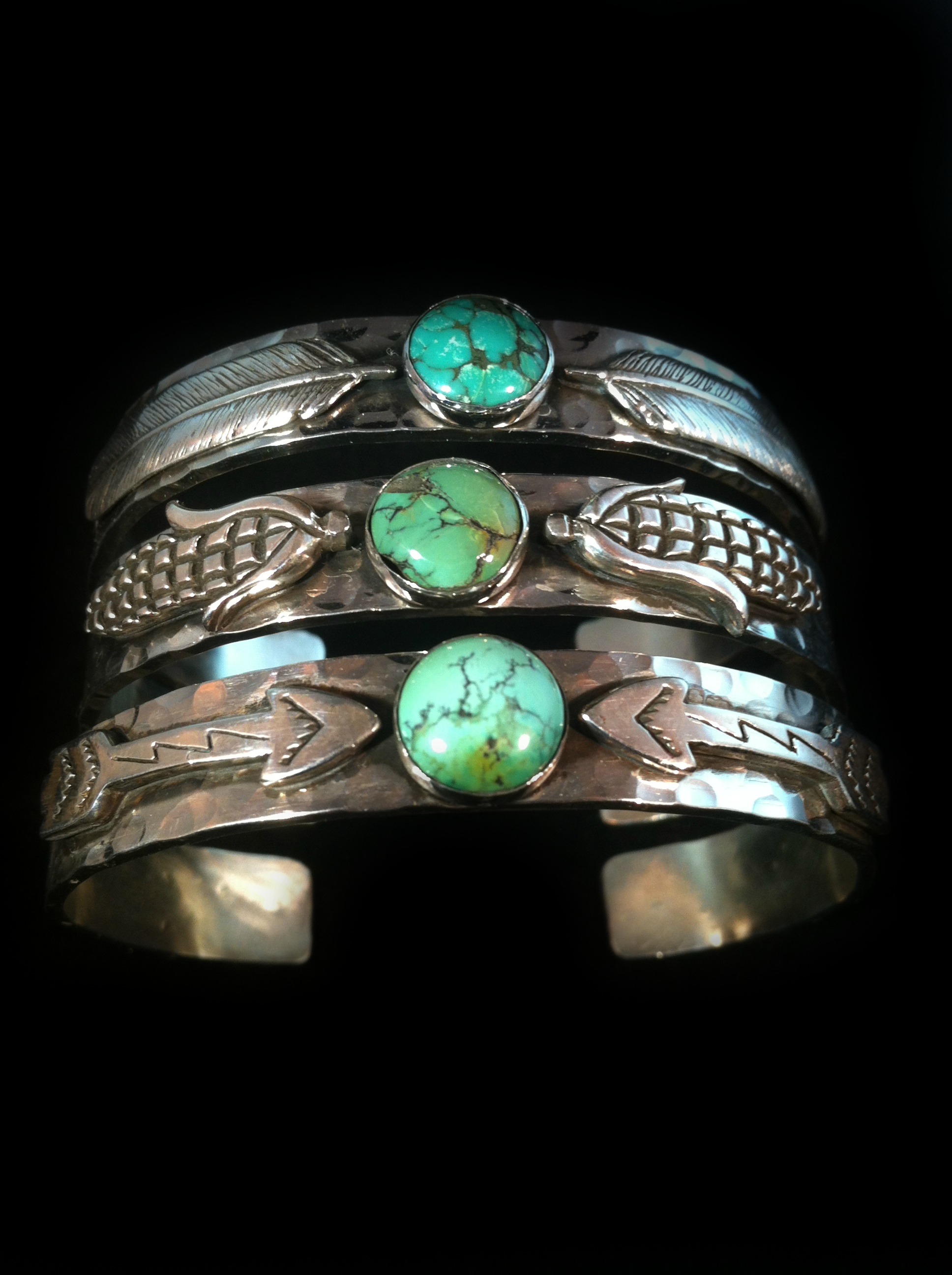 Native Turquoise Stack Cuffs