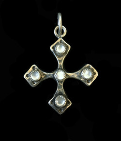 Equilateral Mother of Pearl Cross
