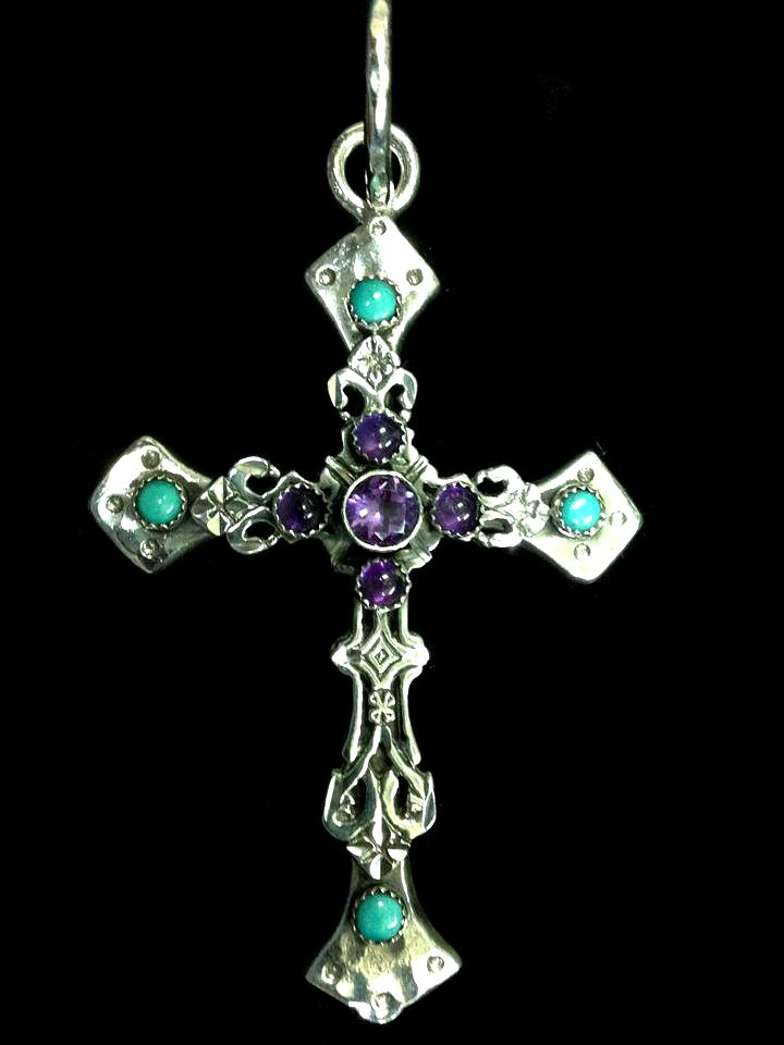 Ornate Amethyst Cross