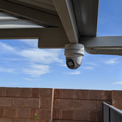 Hikvision Camera with junction box installed in a patio