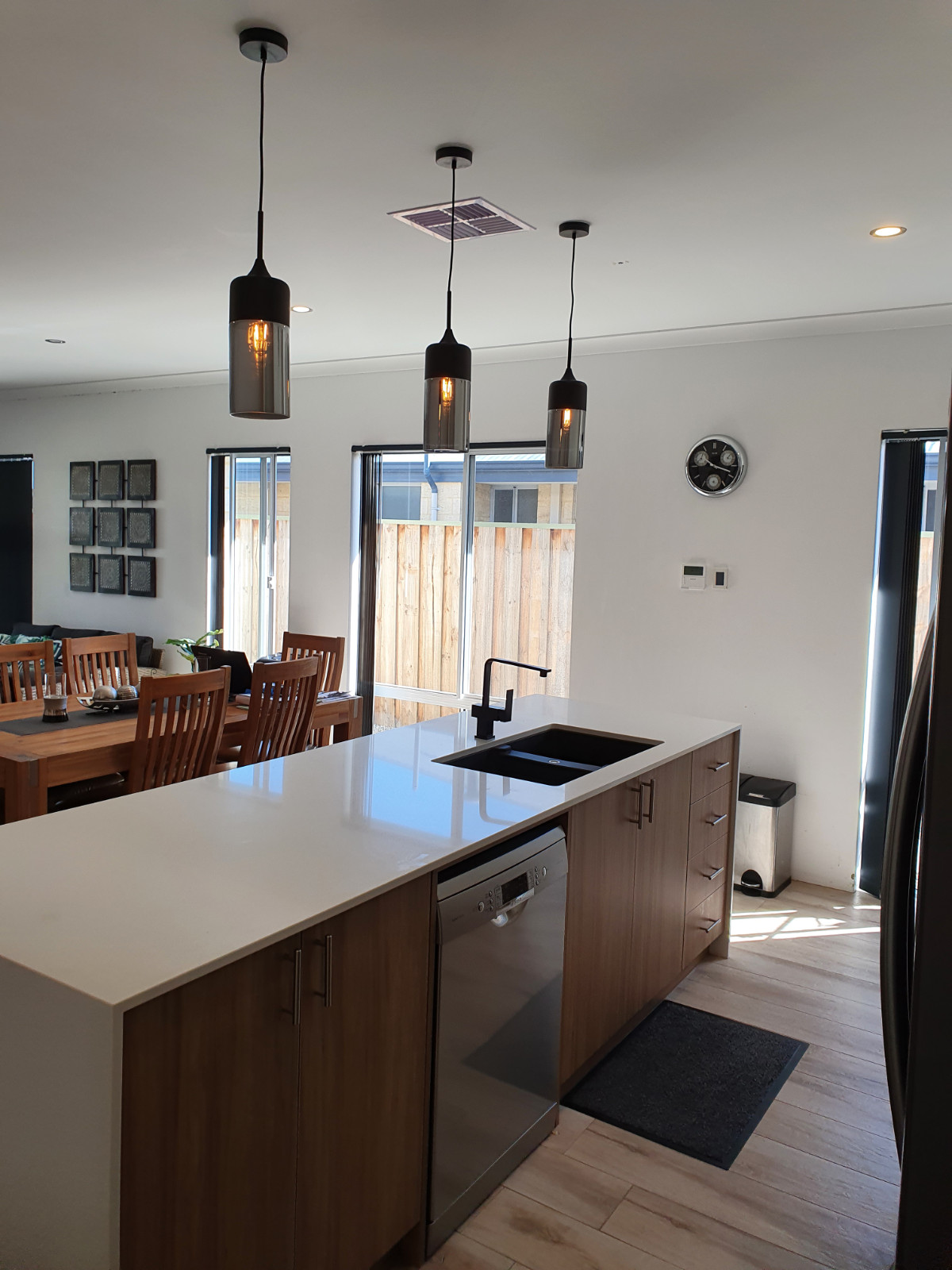 Pendants from Beacon Lighting. Installed by J & C Electrical Contracting. Perth Electrician