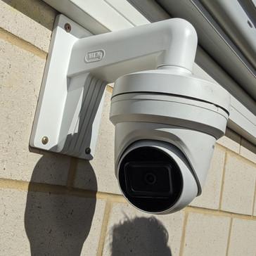 Hikvision camera on wall mount bracket