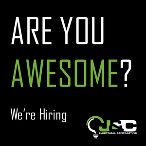 Are you awesome, we're hiring. Qualified electrician