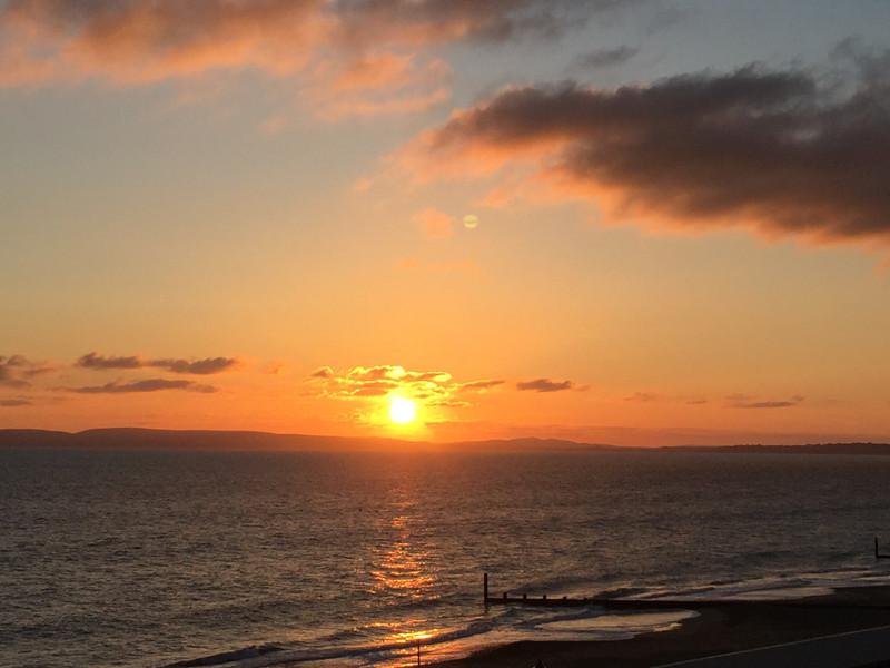 Winter Sunset Purbeck Dorset
