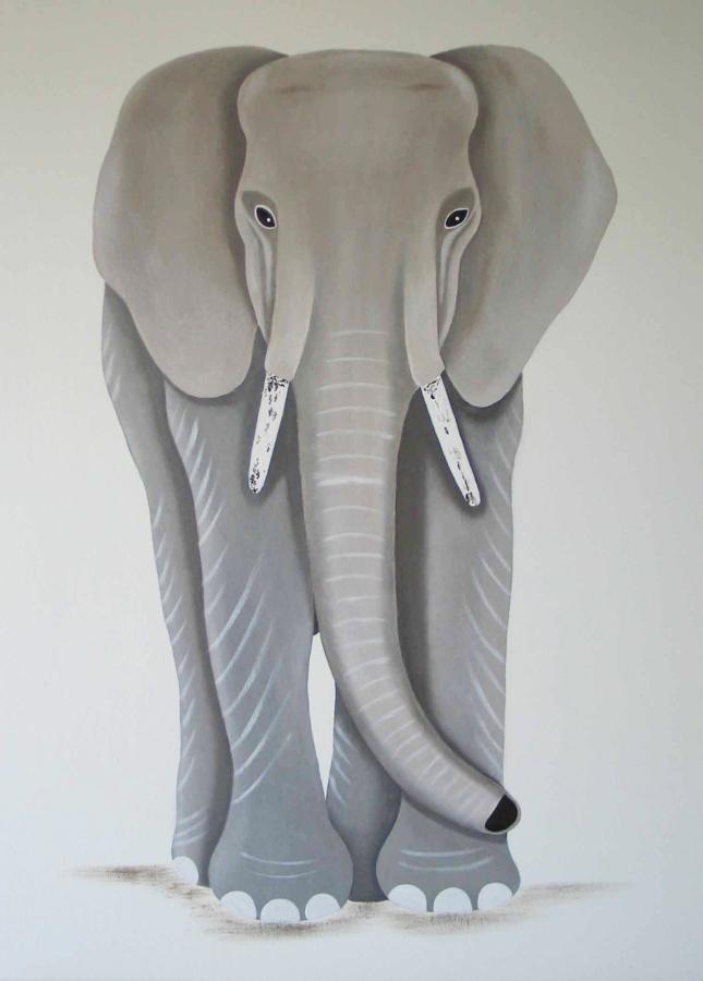 Eléphant-Majestueux-gris
