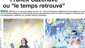 """Franck Cazenave ou """"le temps retrouvé"""""""