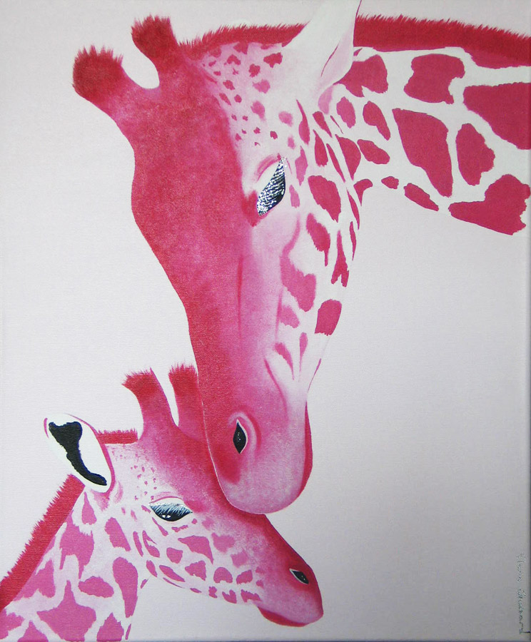 Duo-girafes-rose