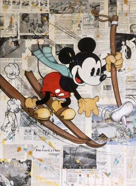 Mickey skieur