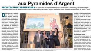 Deux architectes bayonnais primés aux Pyramides d'Argent