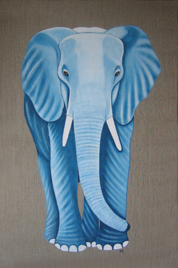 Eléphant-Majestueux-bleu