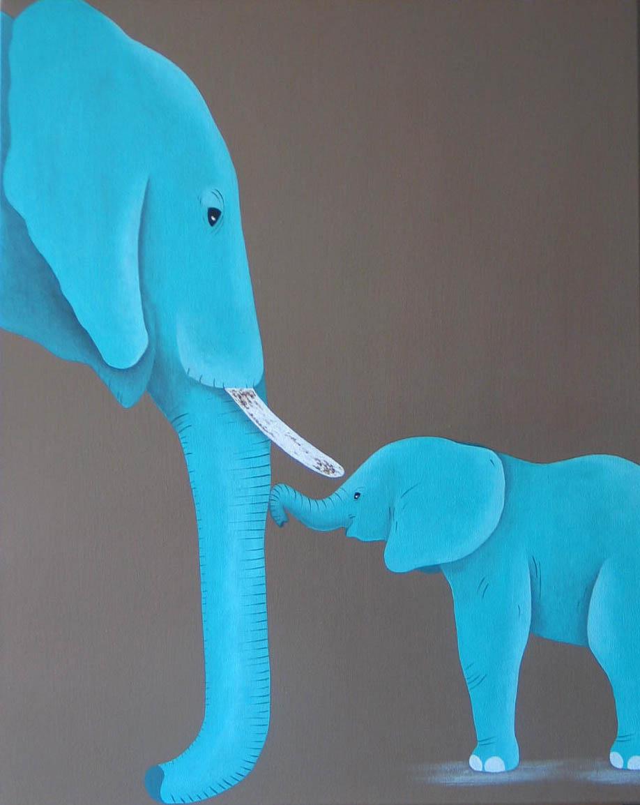 Eléphants bleu