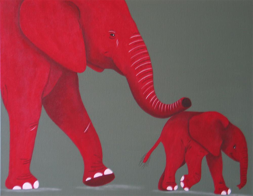 Eléphants en promenade