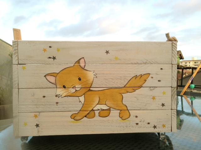 Coffre à jouets petit renard