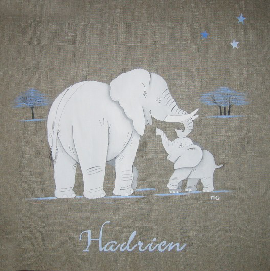 Maman éléphant et son bb