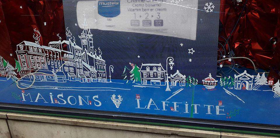 Décor peint sur vitrine commerce