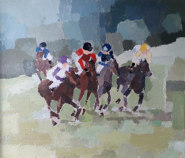 Chevaux de course à Maisons Laffitte (78)