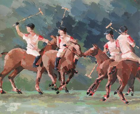 Joueurs de polo à Maisons Laffitte (78)