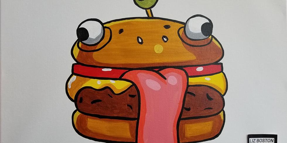Fortnite Paint Night - Durr Burger
