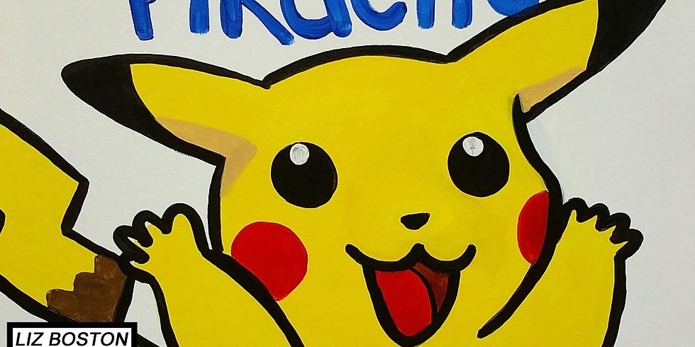 Pokemon Pikachu Paint Night